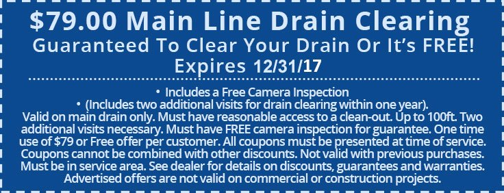Drain Cleaning Coupon | Fishers IN | Carmel IN | Noblesville IN