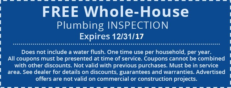 Plumbing Inspection Coupon | Fishers IN | Carmel IN