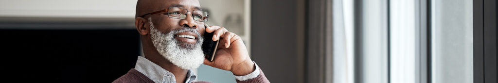 Older man on the phone