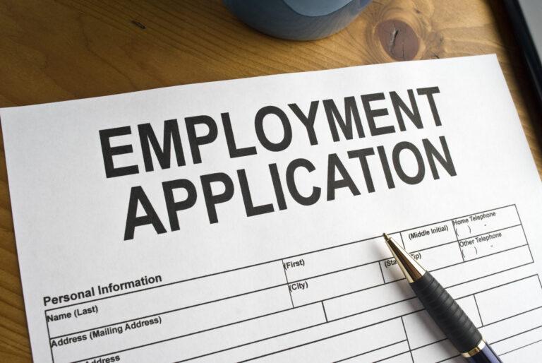 An employment application