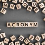 Acronym letter cubes